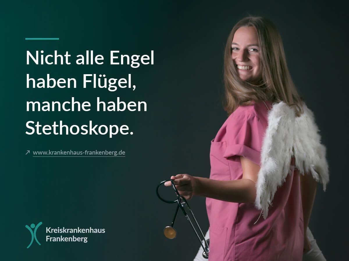 Auszubildende Werben Bei Messe Fur Pflegeberufe Kreiskrankenhaus